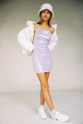 Motel Heidi Sequin Strappy Back Dress