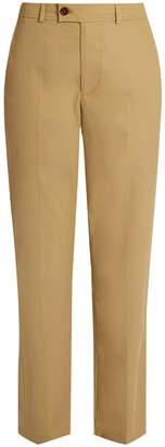 Isabel Marant Licia straight-leg cotton-poplin trousers