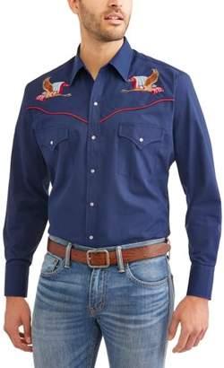 Plains Men's Long Sleeve Patriotic Shirt