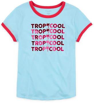 Arizona Girls Round Neck Short Sleeve T-Shirt- Preschool