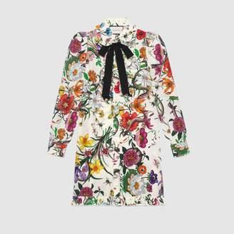 Gucci Flora Snake print dress