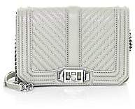 Rebecca Minkoff Women's Small Love Chevron Quilted Leather Crossbody Bag