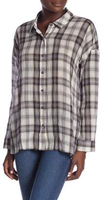 Splendid Willow Voile Plaid Button Down Shirt