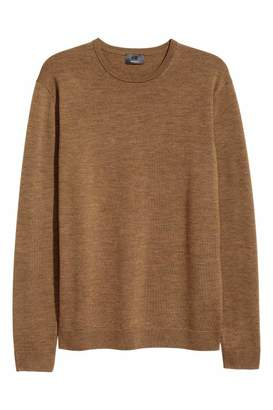 H&M Merino Wool Sweater - Dark beige - Men