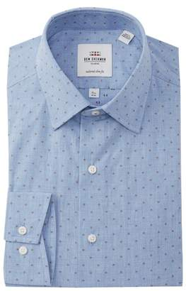 Ben Sherman Clip Spot Tailored Slim Fit Dress Shirt
