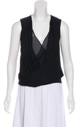 Diane von Furstenberg Sleeveless Draped Top