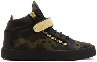 Giuseppe Zanotti Green Camo May London High-Top Sneakers
