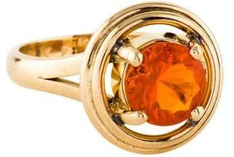 Ring 14K Fire Opal Cocktail