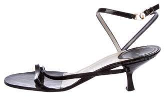 Christian Dior Patent Leather Ankle Strap Sandals