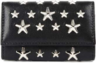 Jimmy Choo Leather With Stars Key Case