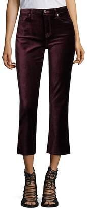 7 For All Mankind Women's Velvet Cropped Flared Jeans