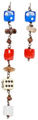 Marni Multicolor Charm Chain Earrings