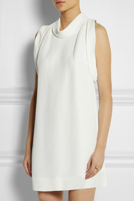Stella McCartney Bretta snake-effect matelassé mini dress