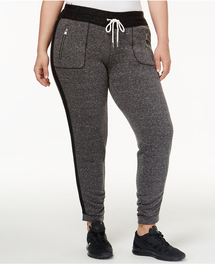 Calvin Klein Performance Plus Sized Tuxedo-Stripe Sweatpants