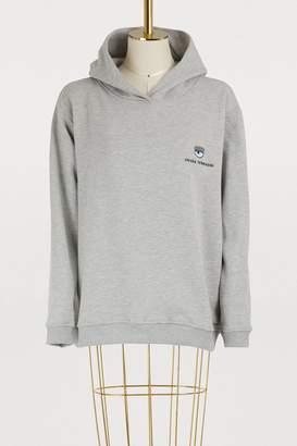 Chiara Ferragni Logomania cotton hoodie
