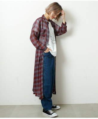 Doublename (ダブルネーム) - DOUBLE NAME 長袖透けチェックレトロOP(B) レイカズン ワンピース
