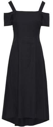 A.L.C. Daniel Cold-Shoulder Flared Canvas Midi Dress