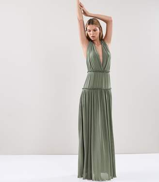 Reiss Gigi Pleated Maxi Dress