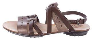 Tod's Metallic Slingback Sandals