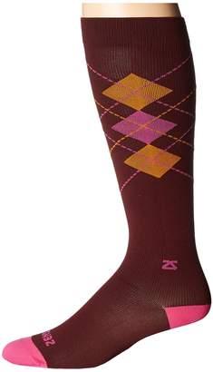 Zensah Fresh Legs Classic Argyle Compression Socks Crew Cut Socks Shoes