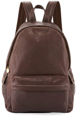Brunello Cucinelli Men's Leather Backpack