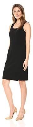 Kasper Women's Drapey Crepe Square Neck Dress