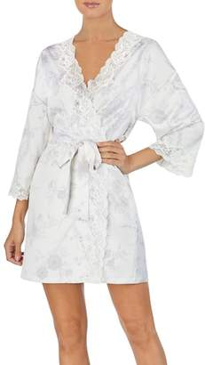 Lauren Ralph Lauren Lace Trim Kimono Robe