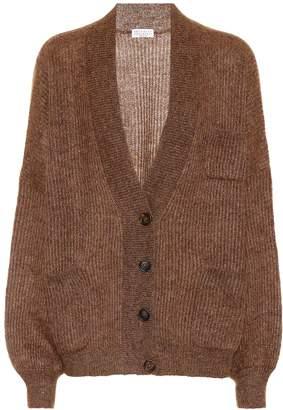 Brunello Cucinelli Metallic mohair-blend cardigan