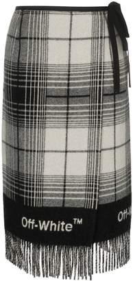 Off-White check blanket skirt