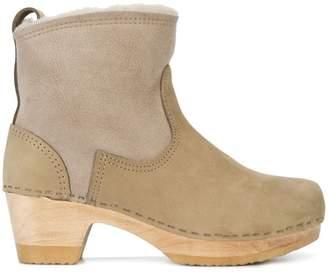 """501006201 at Farfetch · No.6 5"""" Shearling Clog boots"""