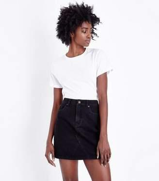 New Look Black Denim Mini Skirt