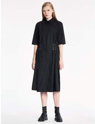 Calvin Klein soft dense poplin short sleeve dress