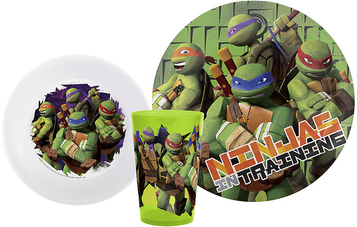 Teenage Mutant Ninja Turtles Three-Piece Mealtime Set