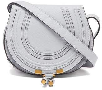 Chloé Marcie Mini Grained Leather Cross Body Bag - Womens - Light Blue