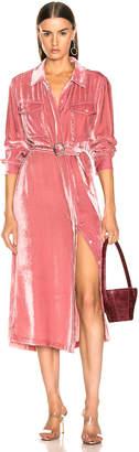 Sies Marjan Imogene Cord Tie Front Dress in Dusty Rose | FWRD