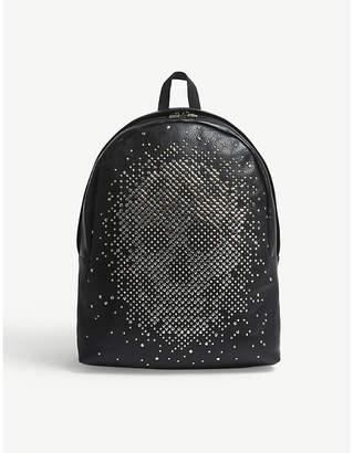 Alexander McQueen Black Stud Skull Grained Leather Backpack