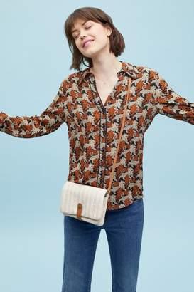 Anthropologie Brielle Tiger-Print Shirt