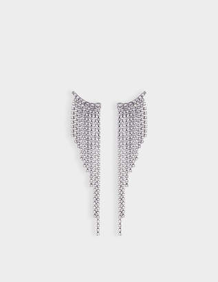 Helene Zubeldia Crystals Cascade Earrings in Ruthenium and Crystals