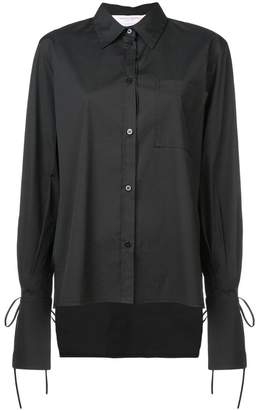 Carolina Herrera tied cuffs shirt