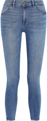 DL1961 Burton Cropped Faded Mid-rise Skinny Jeans