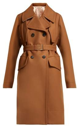 No.21 No. 21 - Double Breasted Wool Blend Coat - Womens - Camel