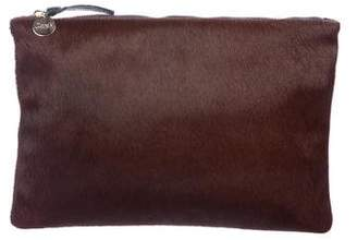 Clare Vivier Pony Hair Zip Clutch