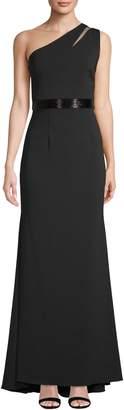 Carmen Marc Valvo Women's One Shoulder Crepe Gown
