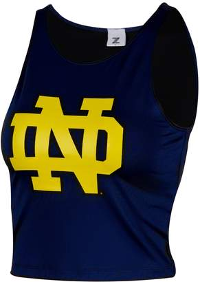 NCAA Zoozatz Women's Notre Dame Fighting Irish First Down Crop Top
