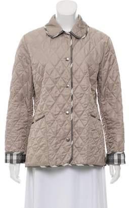 Burberry Lightweight Quilted Jacket Beige Lightweight Quilted Jacket