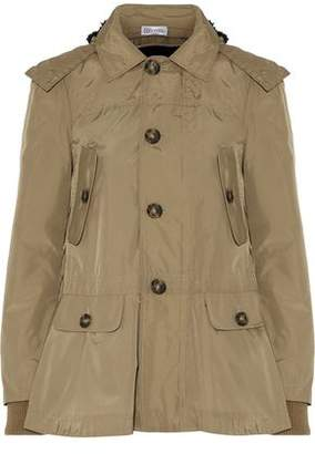 RED Valentino Faux Fur-Trimmed Shell Hooded Coat