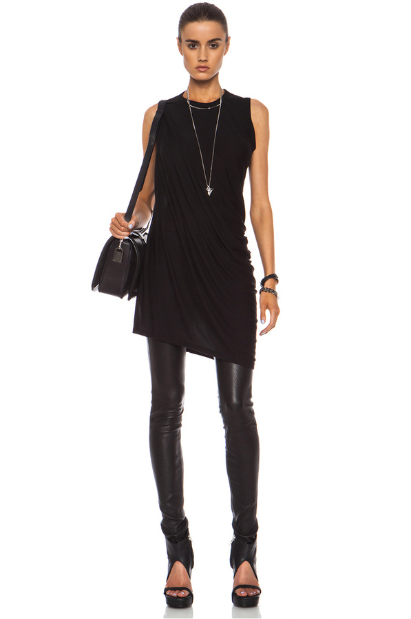 Rick Owens Anthem Viscose-Blend Tunic in Black