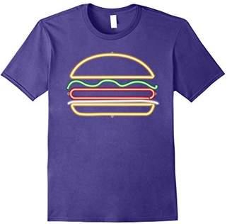 Hamburger Shirt - Neon Light Burger Shirt for Burger Lovers