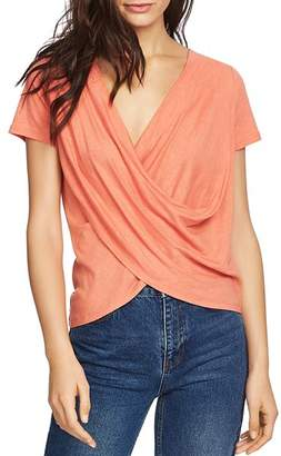1 STATE 1.STATE Short-Sleeve Draped Top