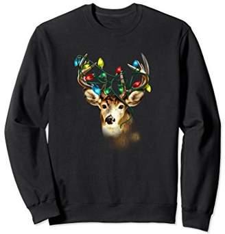 Hybrid Christmas Light Deer Sweatshirt